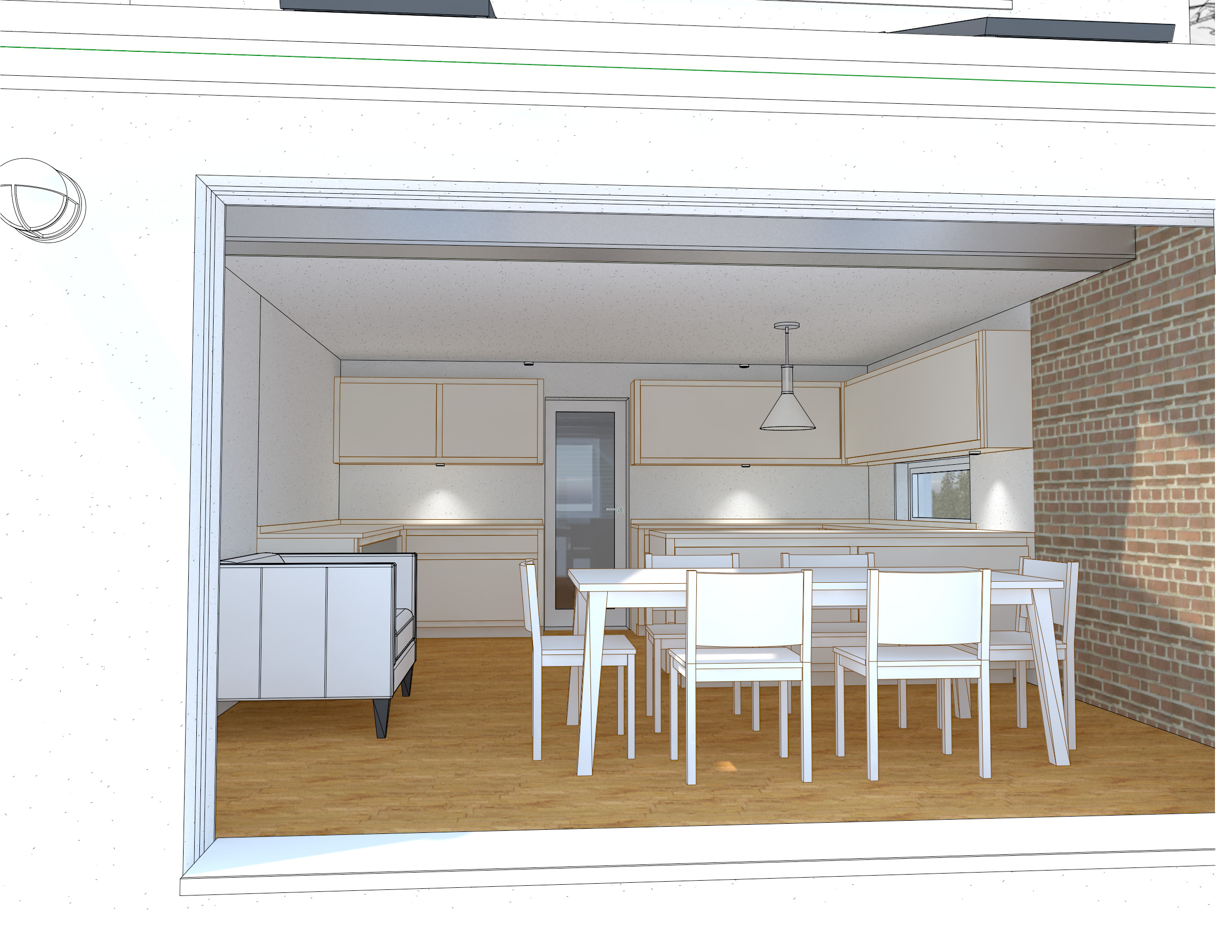 kitchen diner extension to period property